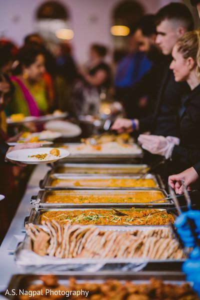 Indian wedding buffet photo.
