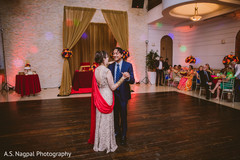 Indian lovebirds at their first dance.