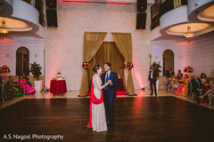 Indian couple romantic first dance.