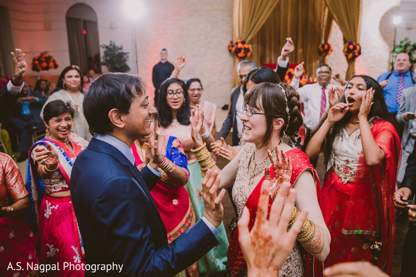 Magnificent Indian wedding reception celebration.