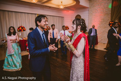 Lovely Indian couple at their reception dance.