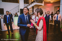 Joyful Indian wedding reception party.