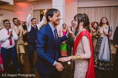 Lovely Indian couple having their reception dance.