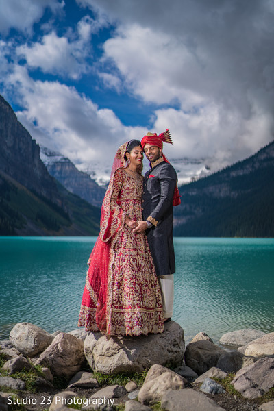 Dazzling shot of Indian couple outdoors
