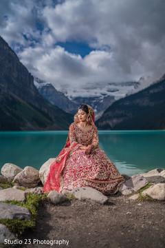 Stunning portrait of Maharani outdoors