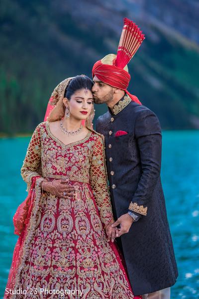 Raja kissing the beautiful Maharani