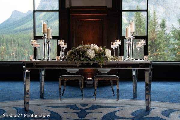 Special table for the couple
