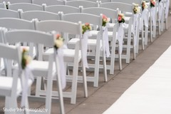 Detail of chair setup for the ceremony