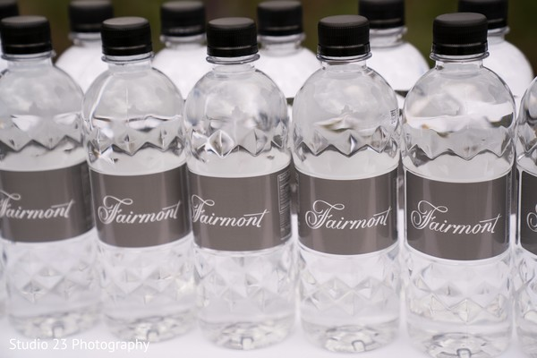 Water bottles for the guests