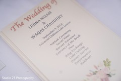 Details of the beautiful invitations of the ceremony