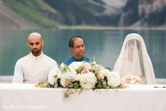 Moments of the beautiful ceremony