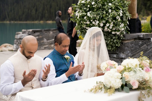 Indian bride and groom's emotional moment