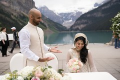Raja and Maharani during the ceremony