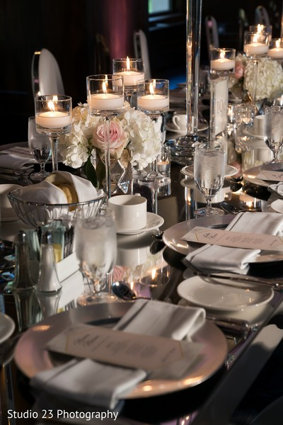 Table design decoration for the reception