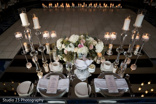 Floral decoration of the tables