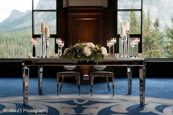 Another capture of the Indian wedding table design
