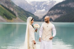 See this amazing shot of newlyweds by the lake