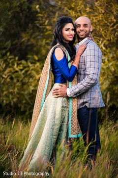 See this beautiful Indian bride and Raja posing outdoors