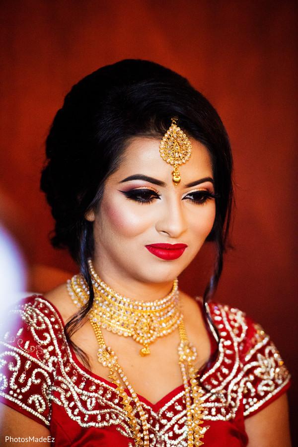 Incredible Indian bridal makeup.