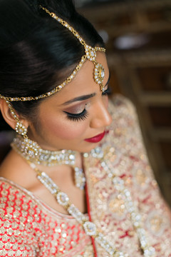 Indian bride's tikka details