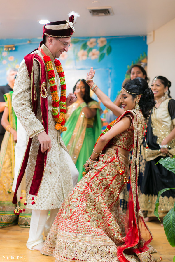 Indian bride and Raja having a blast