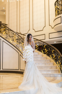 See this gorgeous Indian bride posing with gown