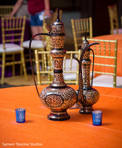 Beautiful ornaments at the Indian wedding reception