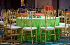 See this table setup for the Indian wedding