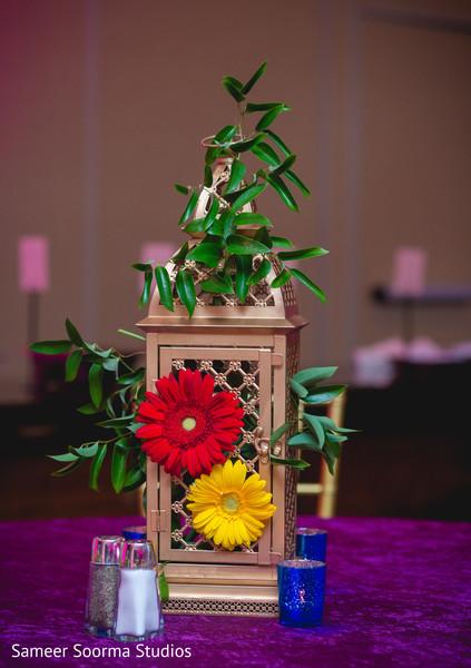 Floral ornaments at the venue