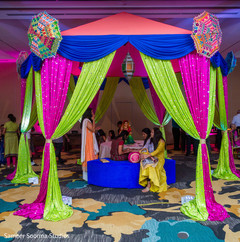 See this beautiful Indian pre wedding decor