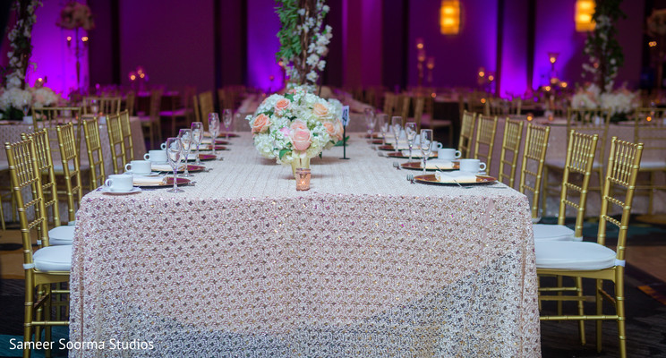 Table design for the Indian wedding reception