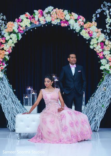 Beautiful maharani wearing the wedding gown