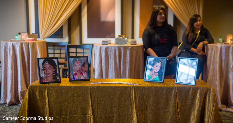 Pictures of Maharani on display at the venue