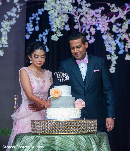 Maharani and Raja with the cake