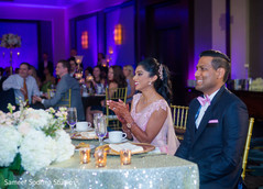Indian newlyweds reacting to the the guests