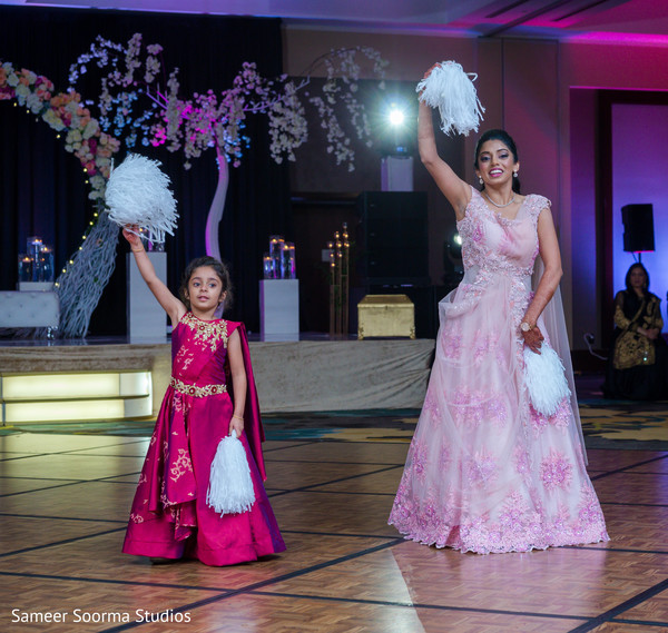 Maharani and special kid guests dancing a the reception