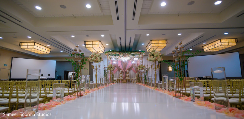 See this beautiful Indian wedding venue decor