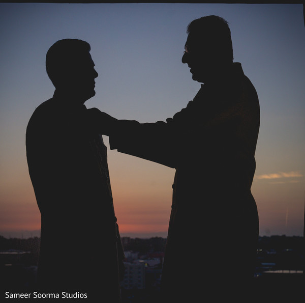 See this amazing shot of Indian groom getting ready at the sunset