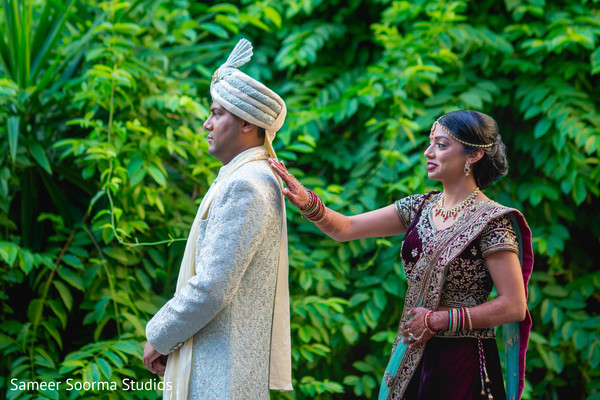 Indian groom about to meet the bride