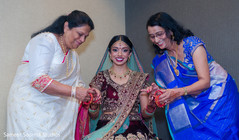 Indian bride and special guests prior to the ceremony