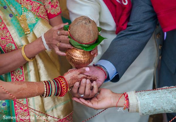 Maharani's hand during the Indian wedding rituals