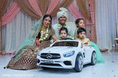 Lovely shot of Indian couple with kid guests
