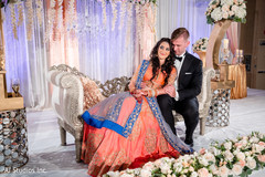 Dreamy Indian wedding reception photo session.