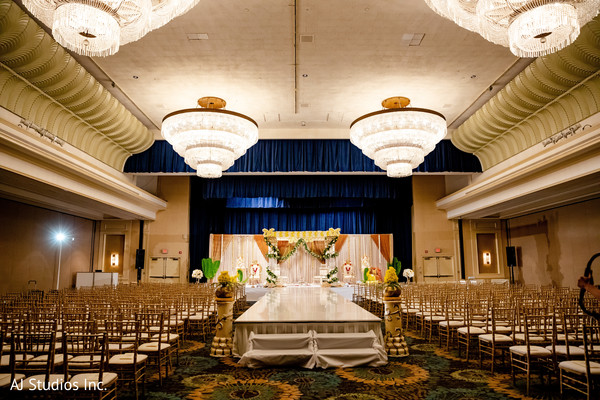 Elegant Indian wedding ceremony decoration.