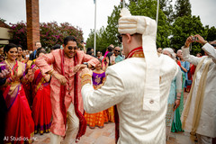 Upbeat Indian groom's baraat dance.