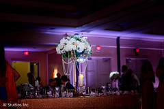 Marvelous Indian wedding table flowers centerpiece.