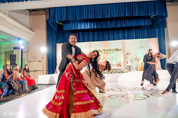 Indian bridesmaids and groomsmen reception dance choreography.