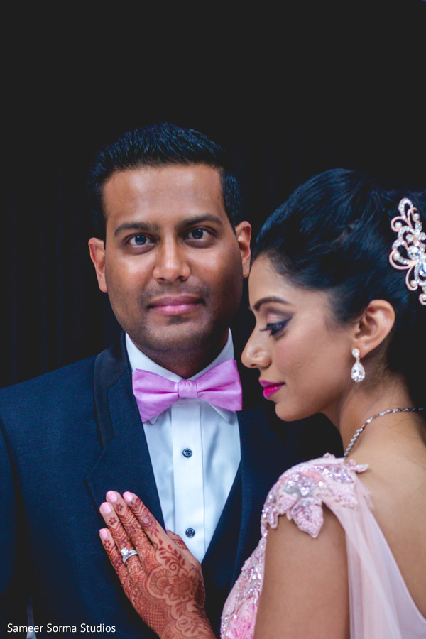Portrait of the Indian newlyweds