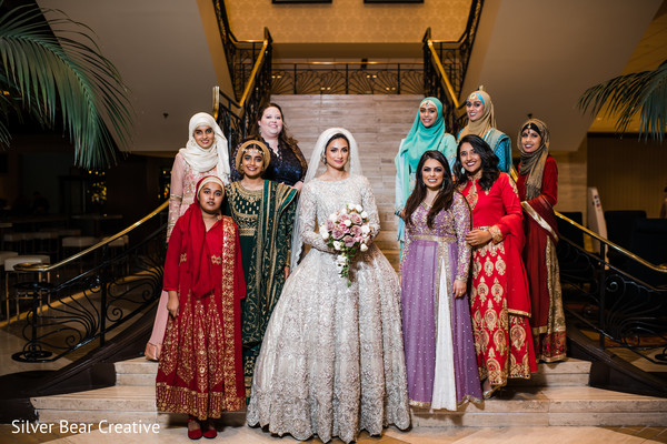 Enchanting Indian bride and bridesmaids photo.