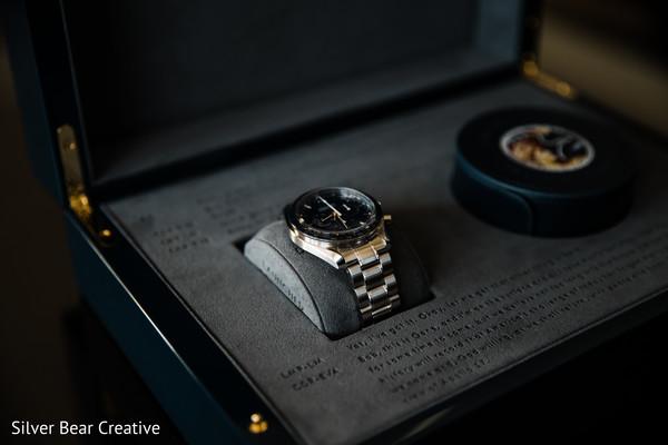 Stunning Indian groom's watch.